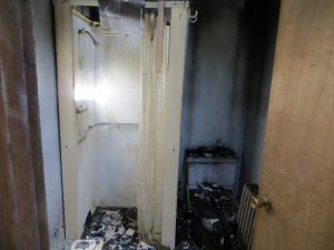 fire remodel bathroom damage