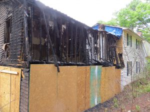 fire damage remodel exterior