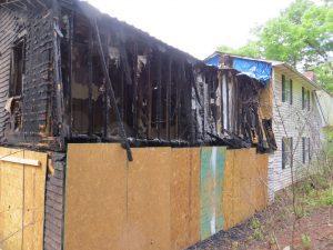fire damage remodel exterior